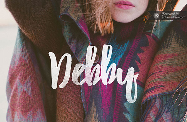 debby hand drawn brush font free download