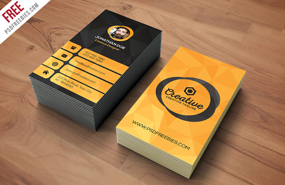 free agency business card PSD template