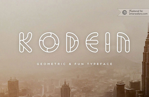 Kodein free geometric font preview