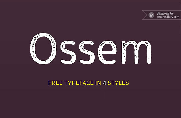 free font ossem preview