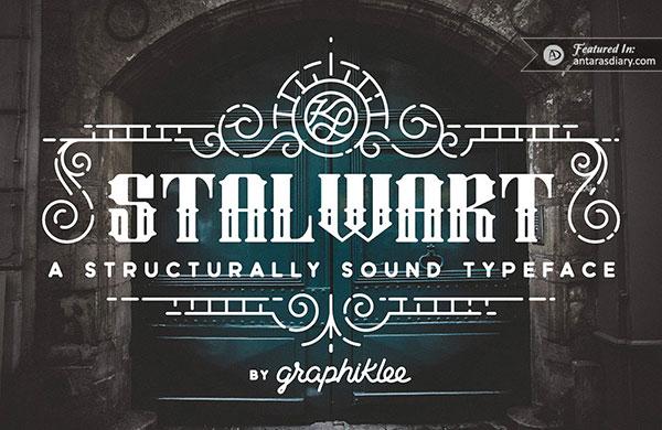 free font stalwart typeface