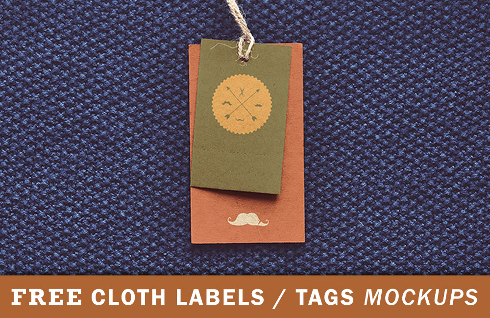 free label tag mockup preview