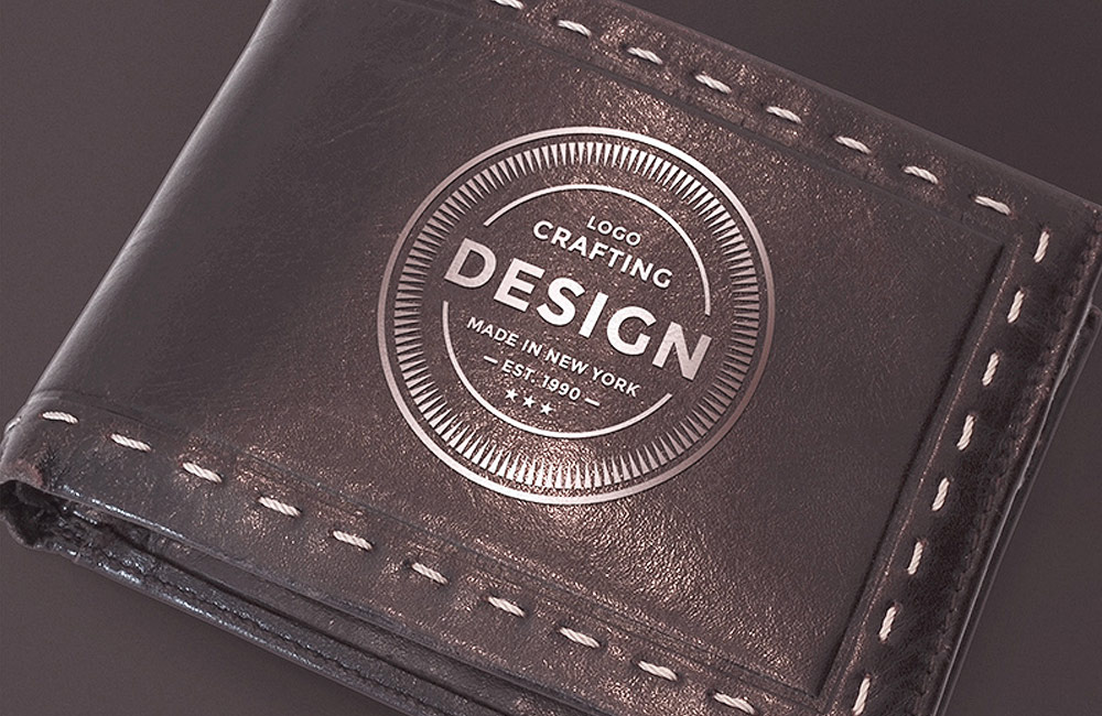 free leather wallet mockup