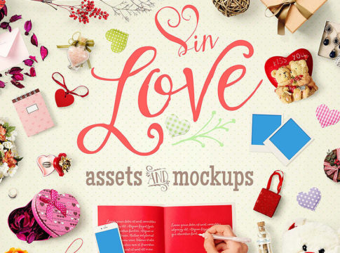 mockup scene creator - Valentine