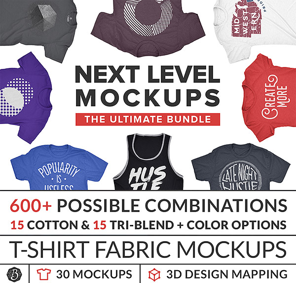 Next Level Mockups - Apparel Bundle