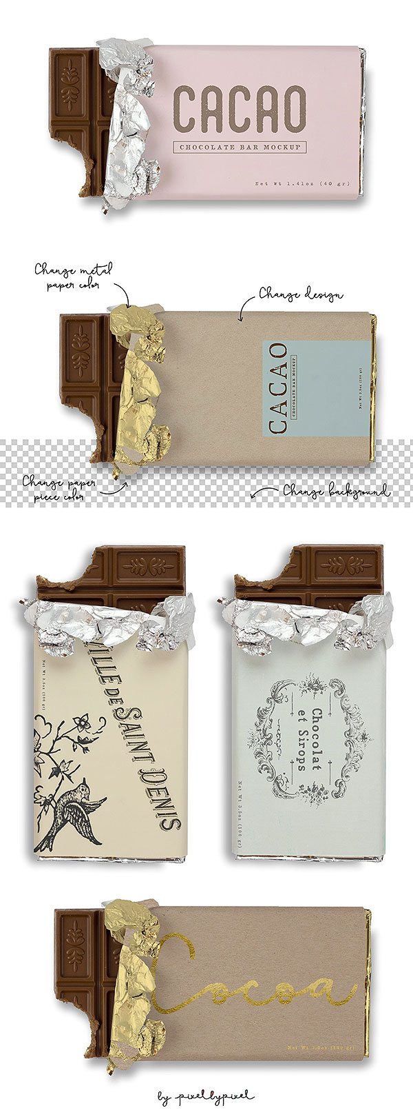 Chocolate Bar Mockup 2