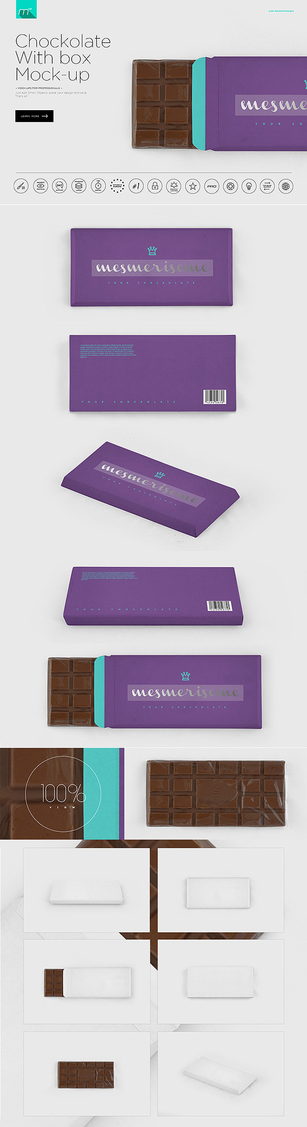 Chocolate Box Packaging Mockup