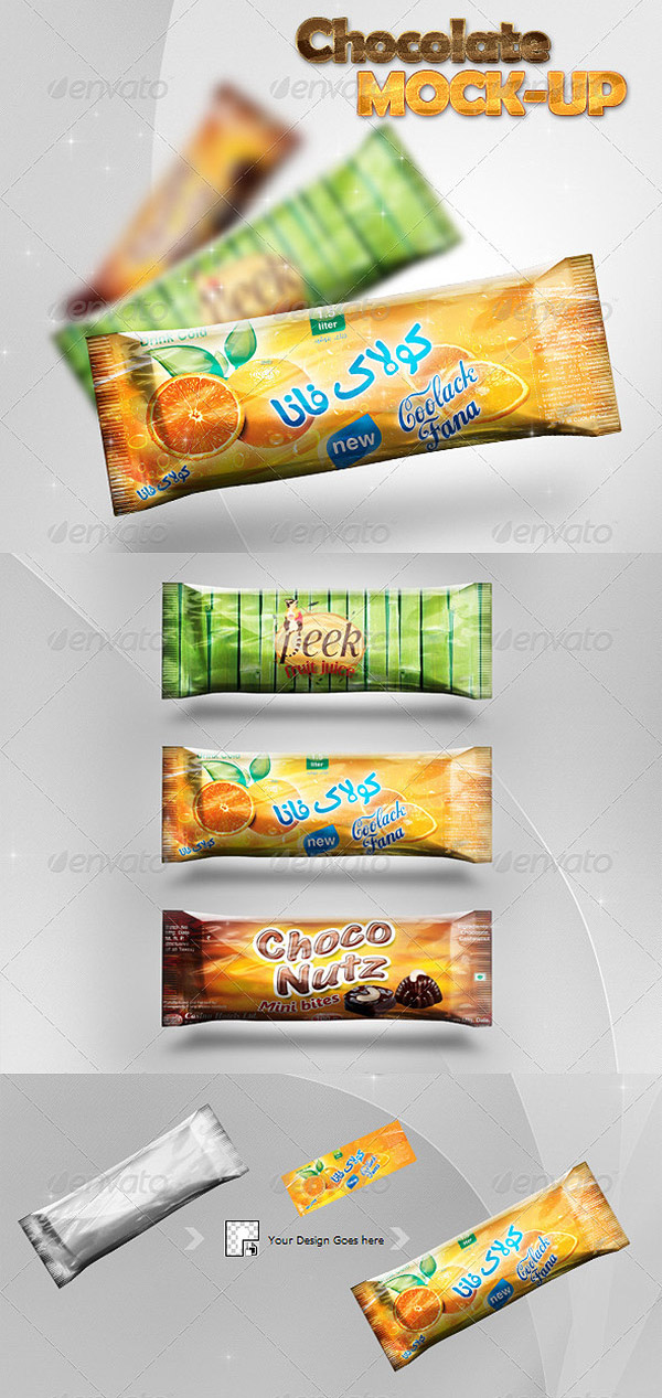 Chocolate/Candy Bar Mock-Up Design Preview