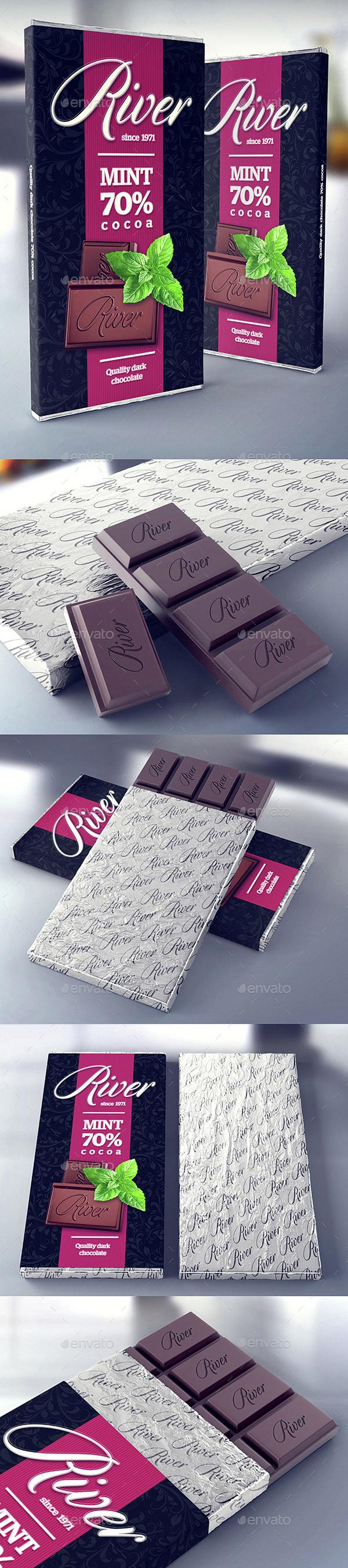 Chocolate Wrapper & Logo Mockup