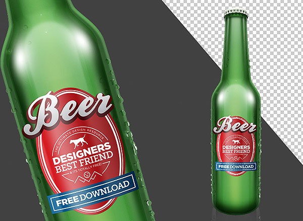 Beer Bottle PSD Mock Up