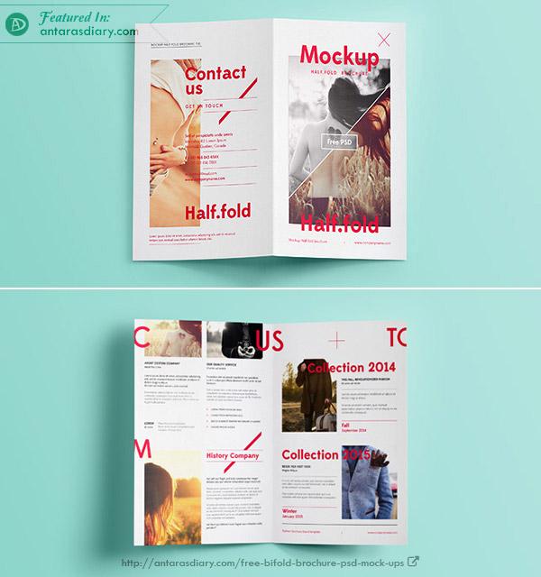 Psd Bi Fold Mockup Template Vol6