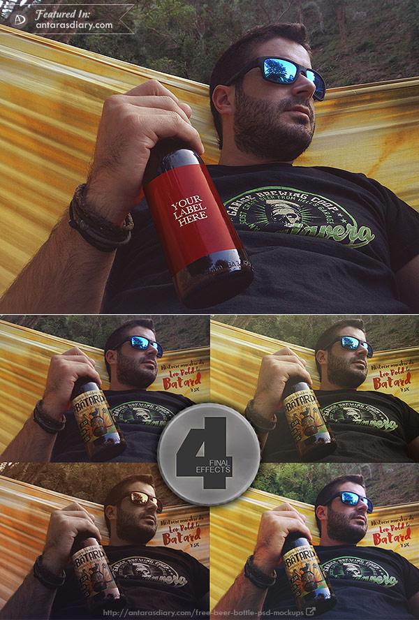 Free Hammock Beer Mockup