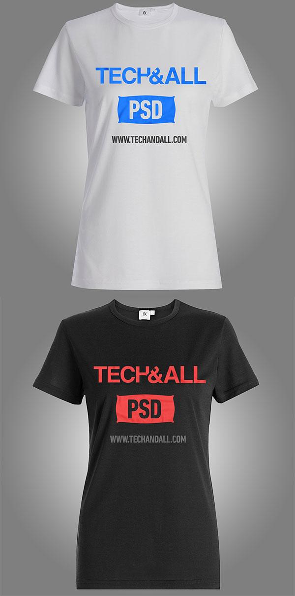 Female T Shirt Mockup v.2 PSD