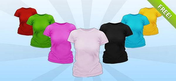 PSD Ladies Shirt Mockup Templates Free Psd