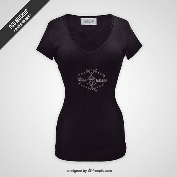50 Free Woman T-Shirt And Apparel PSD Mockups   Antara's Diary