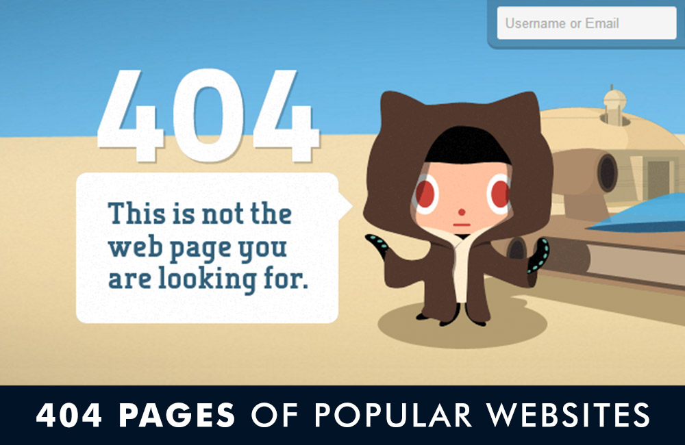 popular website error 404 page preview