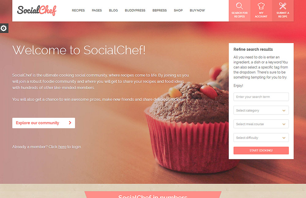 socialchef wordpress theme preview