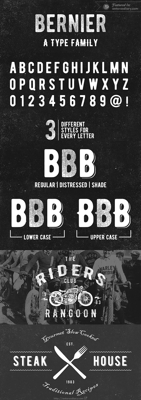 Bernier Free Vintage Font Family