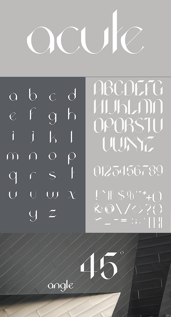 Free Font - Acute