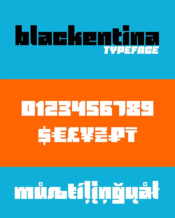 Free Font - Blackentina 4F