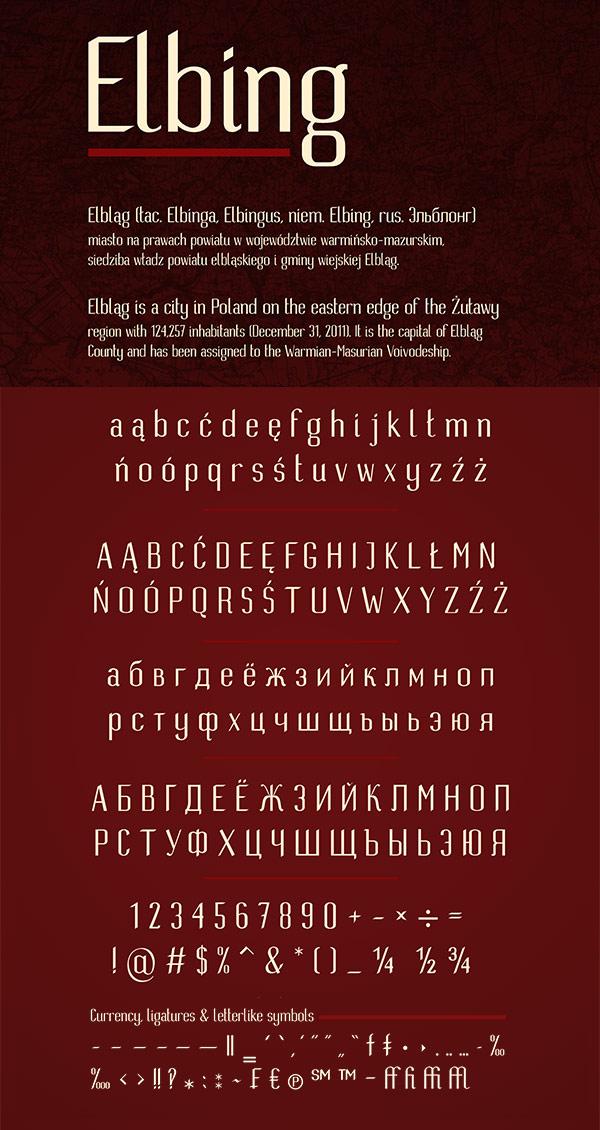Free Font - Elbing