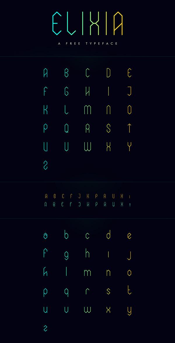 Free Font - ELIXIA