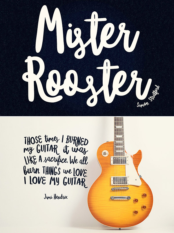 Mister Rooster Free Font