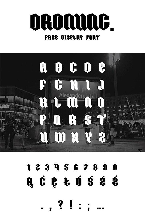 Free Font - ORDNUNG