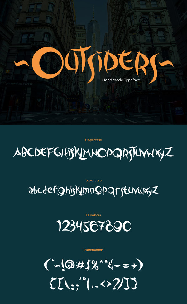 Free Font - Outsiders