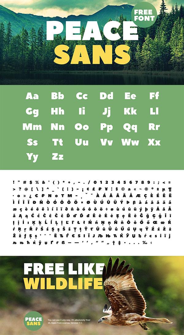 Free Font - Peace Sans