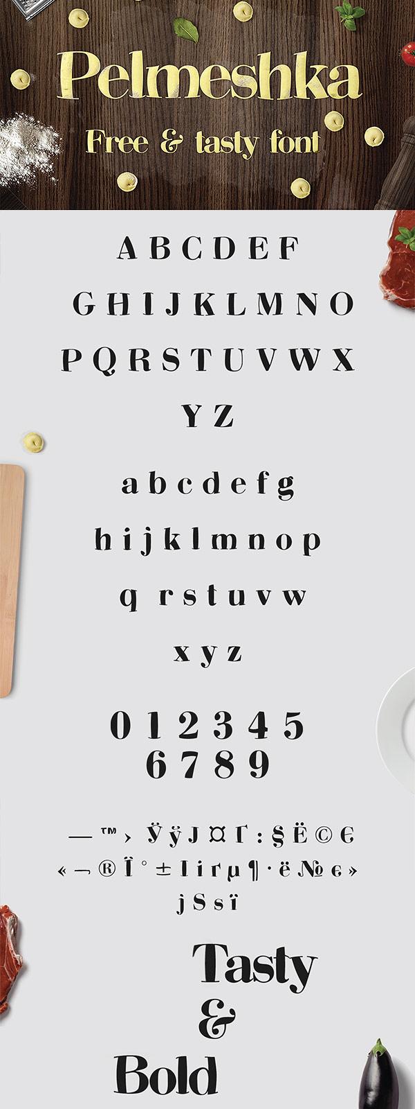 Free Font - Pelmeshka