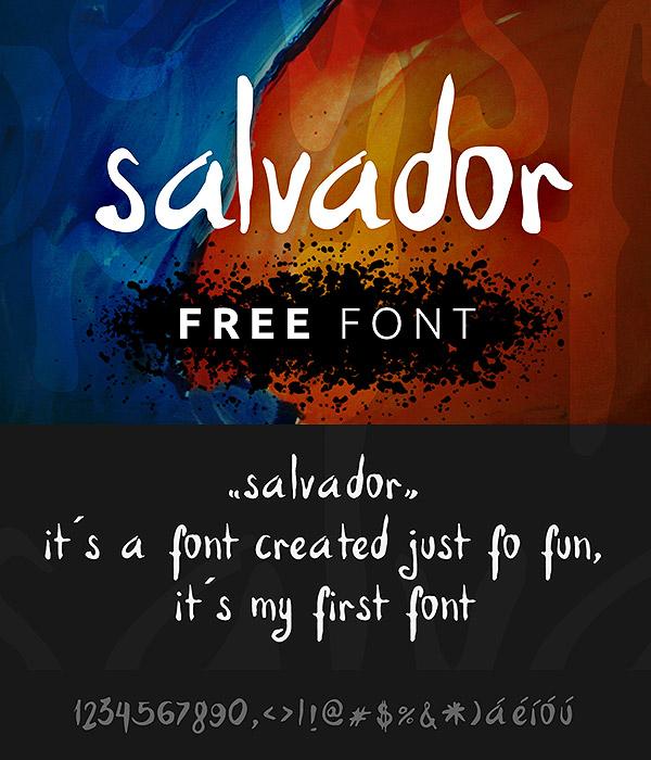 Salvador Hand v1 Free Font