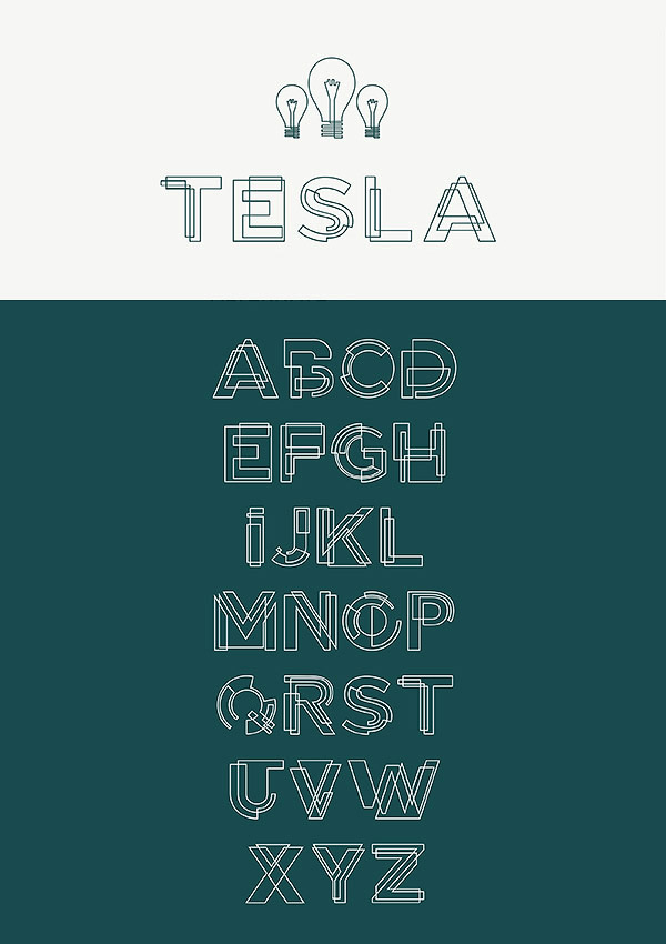 Free Font - Tesla Alternate