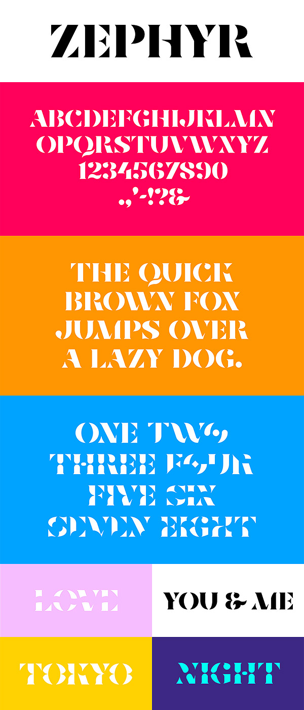 Free Font - Zephyr