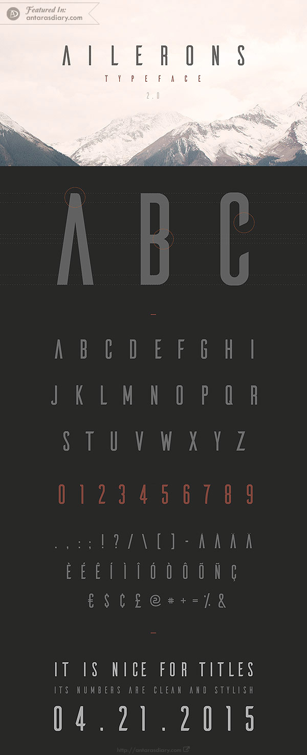 free font Ailerons Typeface