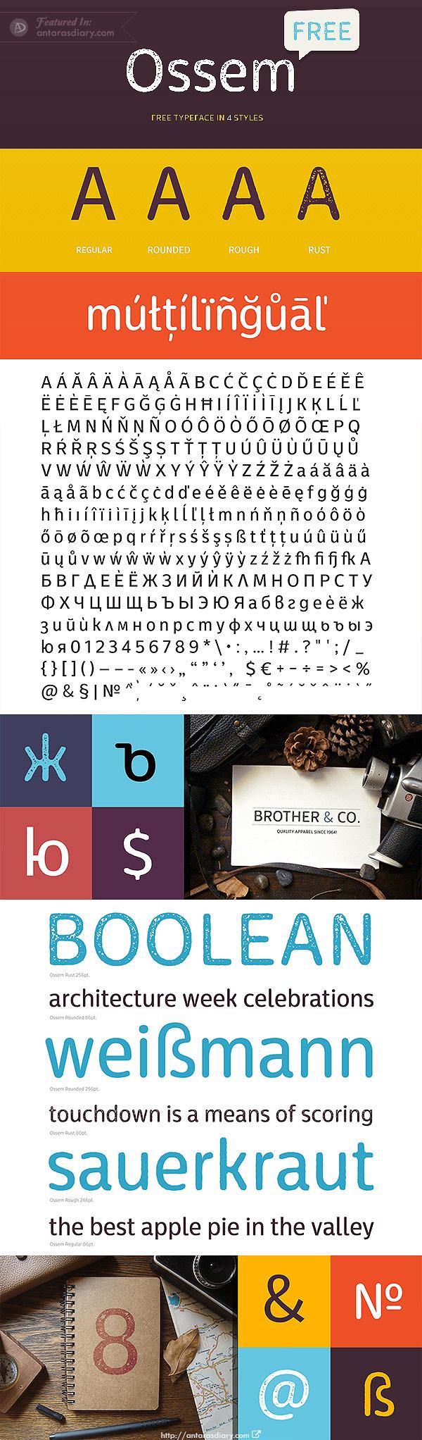 Ossem Free Font Family