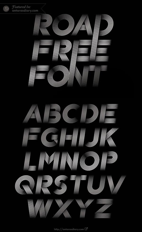 Road Free Vector Font Download