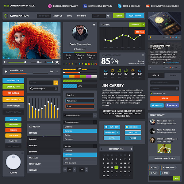 Combination UI Pack Free
