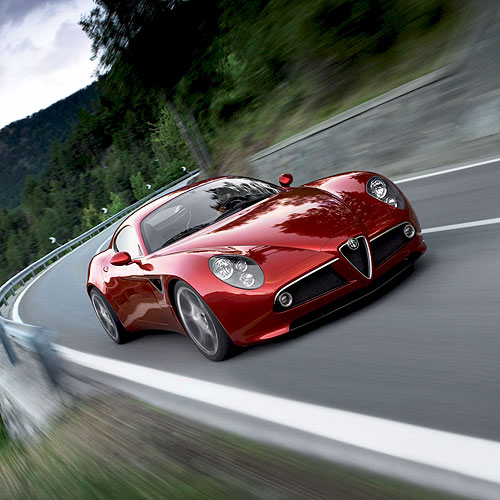Alfa Romeo 8C iPad Car Wallpaper